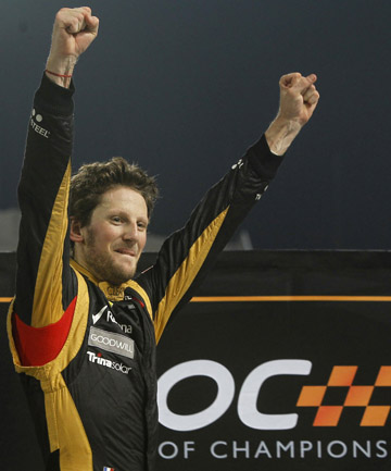 STAYING PUT: Romain Grosjean will stay at Lotus in 2013.