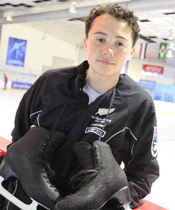 DOUBLE CHAMPION: Figure skater Michael Durham has taken the title of  intermediate figure skating champion in both New Zealand and Australia.