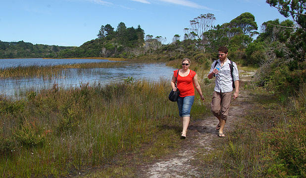 ENTICING TRACKS: Keen walkers and trampers will enjoy the improvements and extensions to walking tracks around Kai Iwi Lakes.