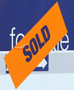 The volume of properties sold also increased with 104 sales last month