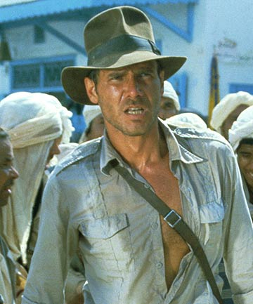 Harrison Ford stars as Indiana Jones.