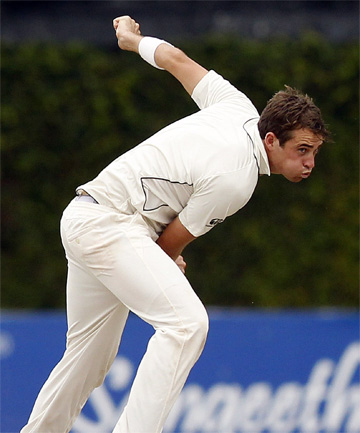 IN THE RUNNING: Tim Southee is a candidate to be vice-captain of the New Zealand cricket team.