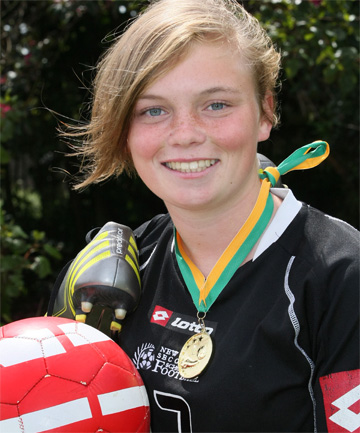 PITCH PERFECT: Southland's Sammy Murrell is back home after helping the New Zealand under-16 women's football team to a big win at an international tournament in Fiji last week.
