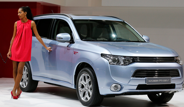PRICE IS RIGHT: The Mitsubishi Outlander PHEV hybrid which the company is hoping to sell in New Zealand for around $60,000.