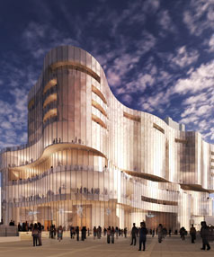 An artist's impression of SkyCity's redeveloped Adelaide casino.