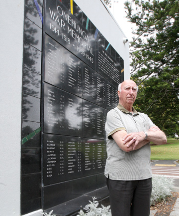 NEEDS RESPECT: Onehunga RSA welfare officer Tom Kerr is upset with the state of the war memorial in Jellicoe Park.