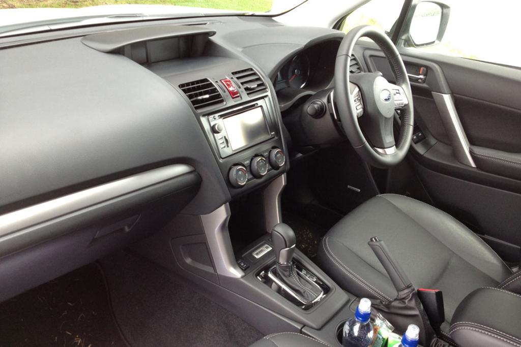 Classy dash: Better materials and a more thoughtful layout transform the Forester's driving environment.
