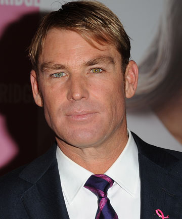 SAFETY STIR: Cricketer Shane Warne.