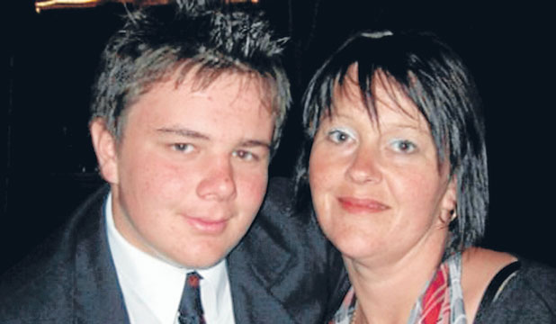 WITHOUT A MUM: Eliot Jessep has been shattered by the death of his mother Paula who died in a car crash last year. The  coroner found Ms Jessep was probably texting while driving.