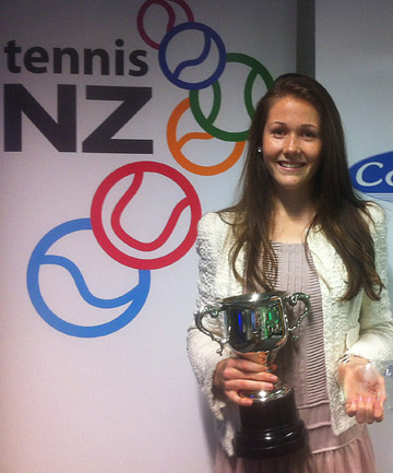 ACED HER OPPONENTS: Emily Fanning won the female Junior Player of the Year at the Tennis NZ awards in Auckland.