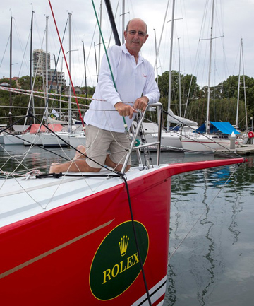 RAY HASLAR: Will sail in his 15th Sydney to Hobart.