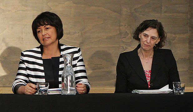 Hekia Parata and Lesley Longstone