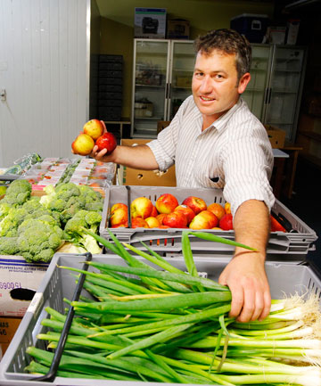 Matt Dagger from Kaibosh, which has had a record 10,000kg of produce donated this month.