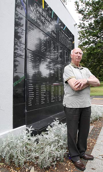 TAKING ACTION: Onehunga RSA member Tom Kerr is upset with the state of the war memorial in Jellicoe Park.
