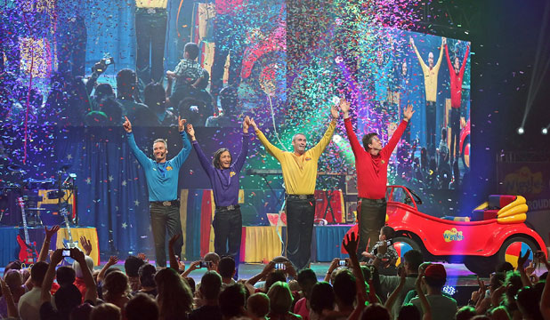 ROMP-BOMP-A-CHOMP! The original Wiggles bow out at the Entertainment Centre on Sunday afternoon before their reinvention with three new members.