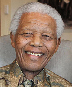 FEELING BETTER: Nelson Mandela