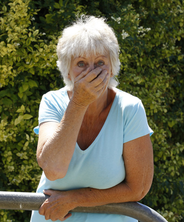 Lorna Waide of Stoke suffers extreme hay fever type symptoms every time she gets near the huge Privet hedge near her house.