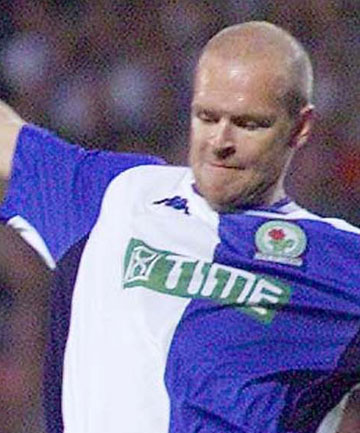 SACKED: A 2001 file photo of Henning Berg playing for Blackburn Rovers. Berg has been sacked as Blackburn's manager after just 57 days in job.