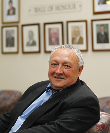 WINNING THE BATTLE: Thames-Coromandel District Council mayor Glenn Leach will stand for one more term as mayor in the 2013 local body election.