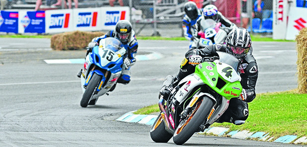 KING COLE: Hamilton's Nick Cole (Kawasaki ZX10R) was virtually unstoppable on the streets of Whanganui on Boxing Day.