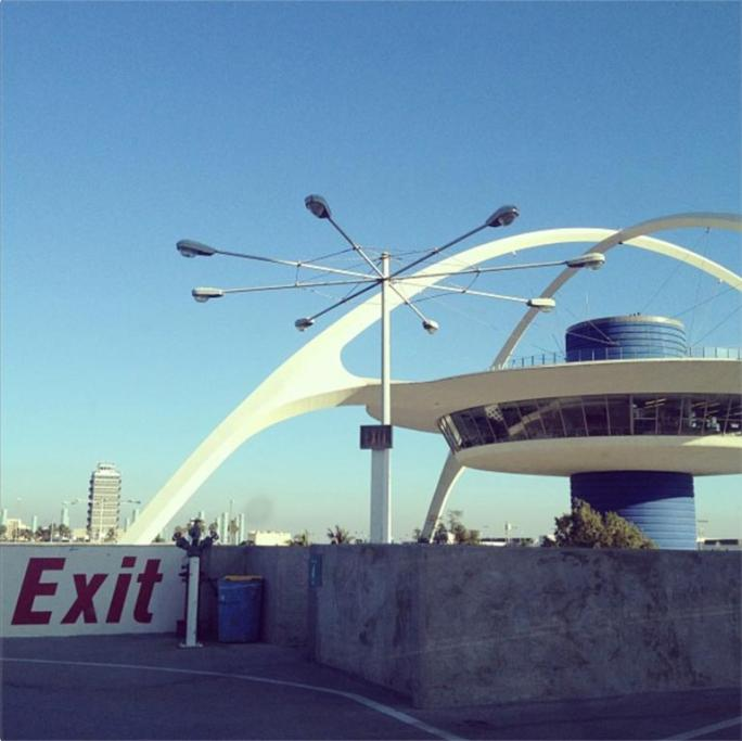 Entrance to Los Angeles. Los Angeles International Airport (LAX)