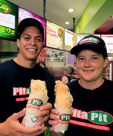 WORKING HARD: Nelson Pita Pit managers Rangi Ngaruhe and Mahina Law in their  Hardy Street shop.