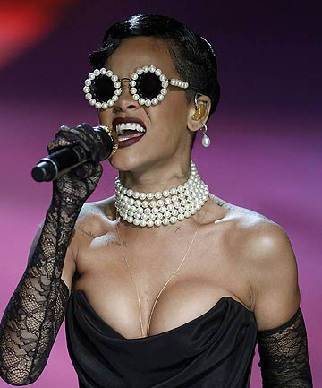 MERRY CHRISTMAS: Pop star Rihanna who received a NZ$385,000 Porsche Turbo S for Christmas from her recording company.