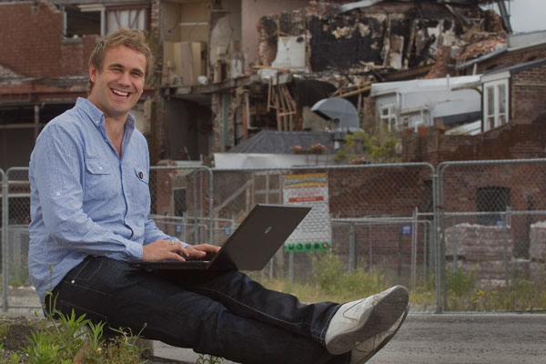 Deon Swiggs, the man behind Rebuild Christchurch, has a sales and marketing degree from CPIT