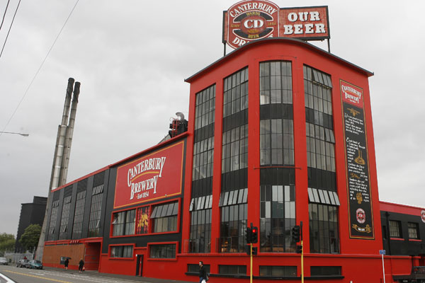 Christchurch's central city brewery, owned by Lion Nathan, as it was in 2007. The site is to host a sports complex.