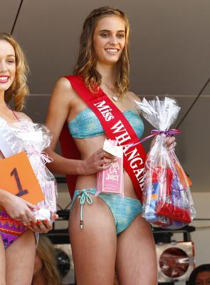 TOP TEEN: Miss Whangamata Teen 2012 winner, Madison White, from Te Aroha, accepts her prize.