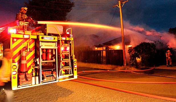 House fire in an empty house in Hereford St, Christchurch
