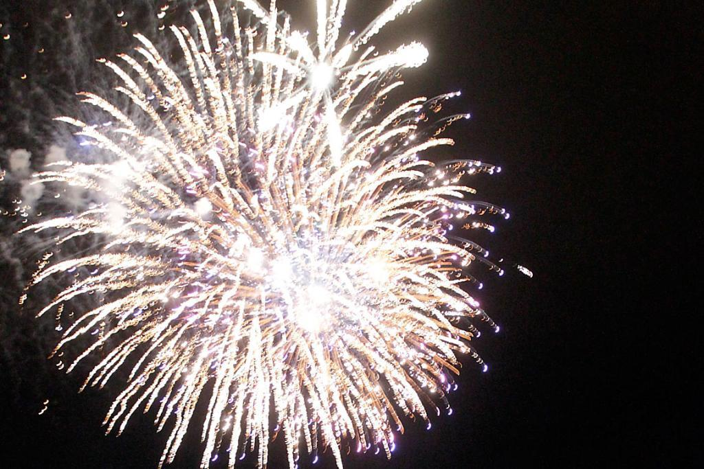 SPARKS: The fireworks were visible from afar in Christchurch's New Year fireworks display.