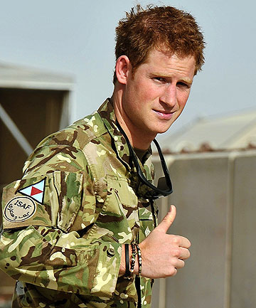TALIBAN TARGET: Prince Harry at Camp Bastion, Afghanistan.
