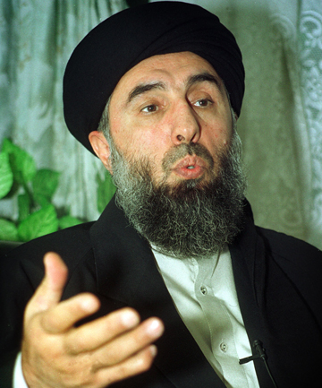 WARLORD: Exiled former Afghan Prime Minister Gulbuddin Hekmatyar in Tehran in 2001.