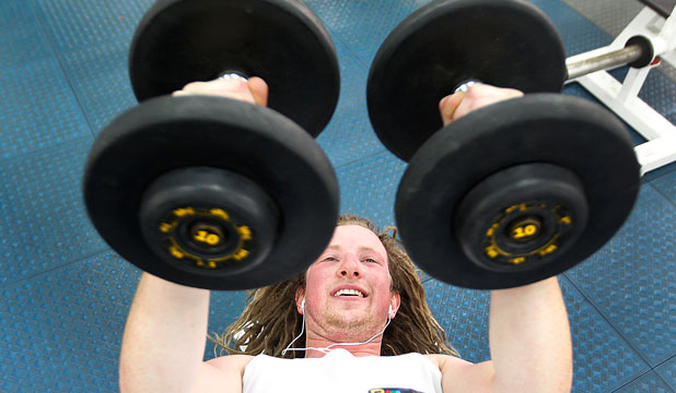 STRONG START: Marc Reynolds hitting the gym early in 2013.