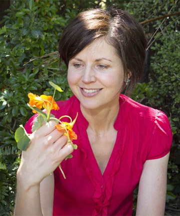 'NOSE-TWISTER': Lucy Corry loves nasturtiums.