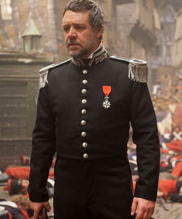 On song: an earnest Russell Crowe shows his vocal talents as Inspector Javert.