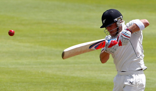 RESURGENCE: Captain Brendon McCullum racked up his 25th test half-century as the Black Caps reached 169-4 at stumps on day two of the first test in Cape Town.