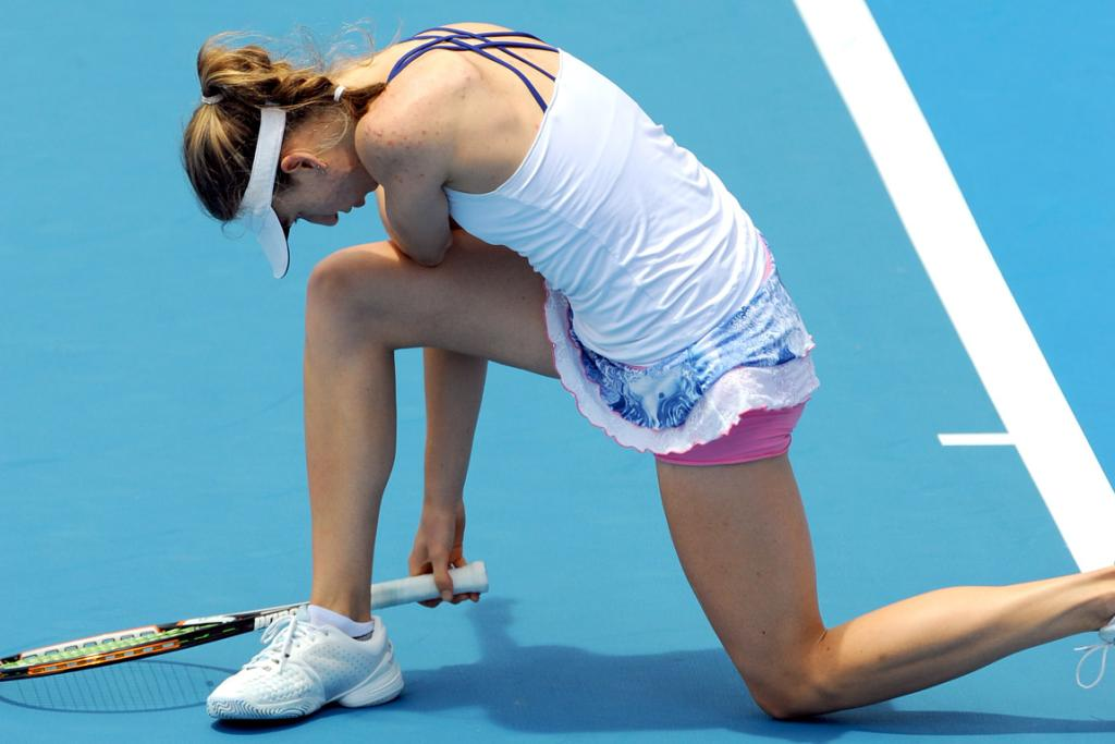 Mona Barthel during her semifinal against Yanina Wickmayer.