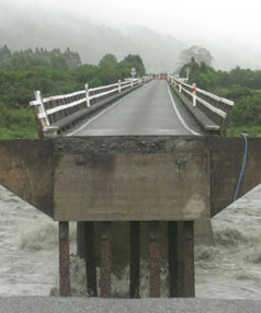 Wanganui River bridge, South Westland