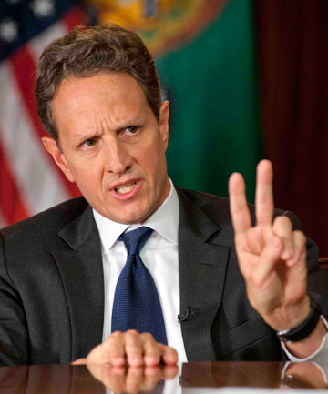DONE: Timothy Geithner is ending his tenure as US Treasury secretary this month.