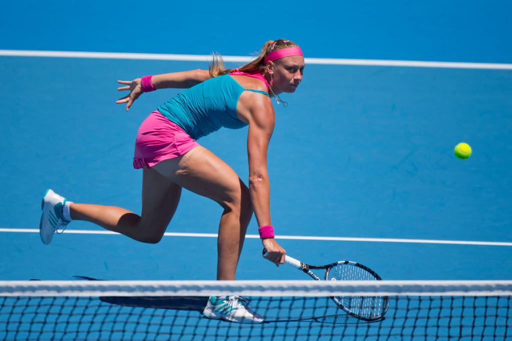 Yanina Wickmayer in action during the final of the ASB Classic.