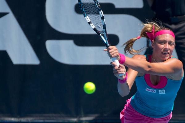 Yanina Wickmayer during the final.