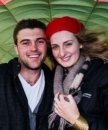 BODIES RETURNED: Chrisjan Jordaan, 21, and his girlfriend Alexis Still, 19, before the hot air balloon flight that claimed their lives.