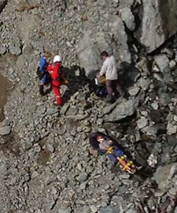 RESCUE: The 46-year-old man fell near the Matakitaki River Headwaters in the Spenser Mountain area.