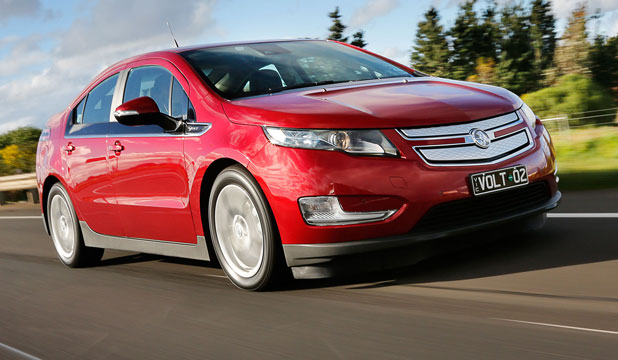 The Holden Volt can go 90km on battery power alone.