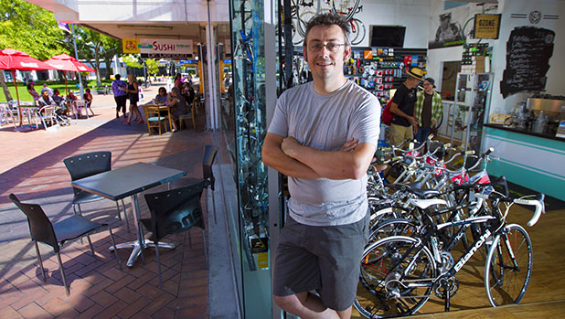 FEELING THE LOSS: Matt Keen, owner of Velo Espresso in Garden Place, says his business has felt the pinch of workers leaving the CBD.