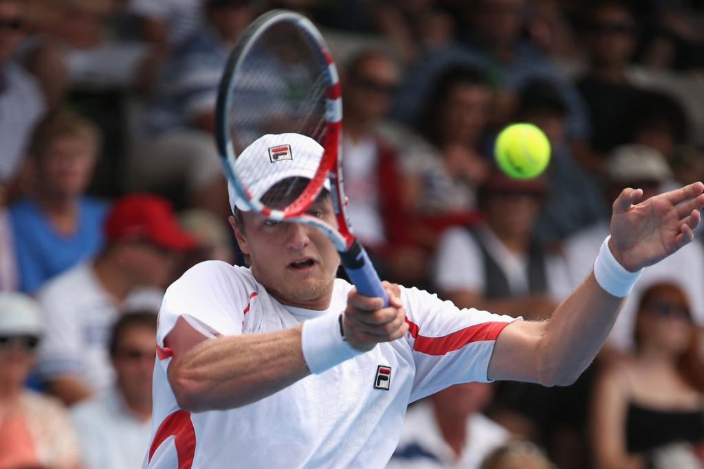 Greg Jones powered past Jurgen Melzer in the first round of the Heineken Open, beating the sixth seed 7-6(7) 6-2.