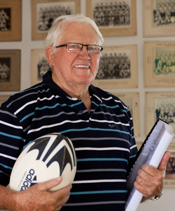 Taradale man Tom Johnson, 74, has just completed a PhD on  the culture of winning in the All Black