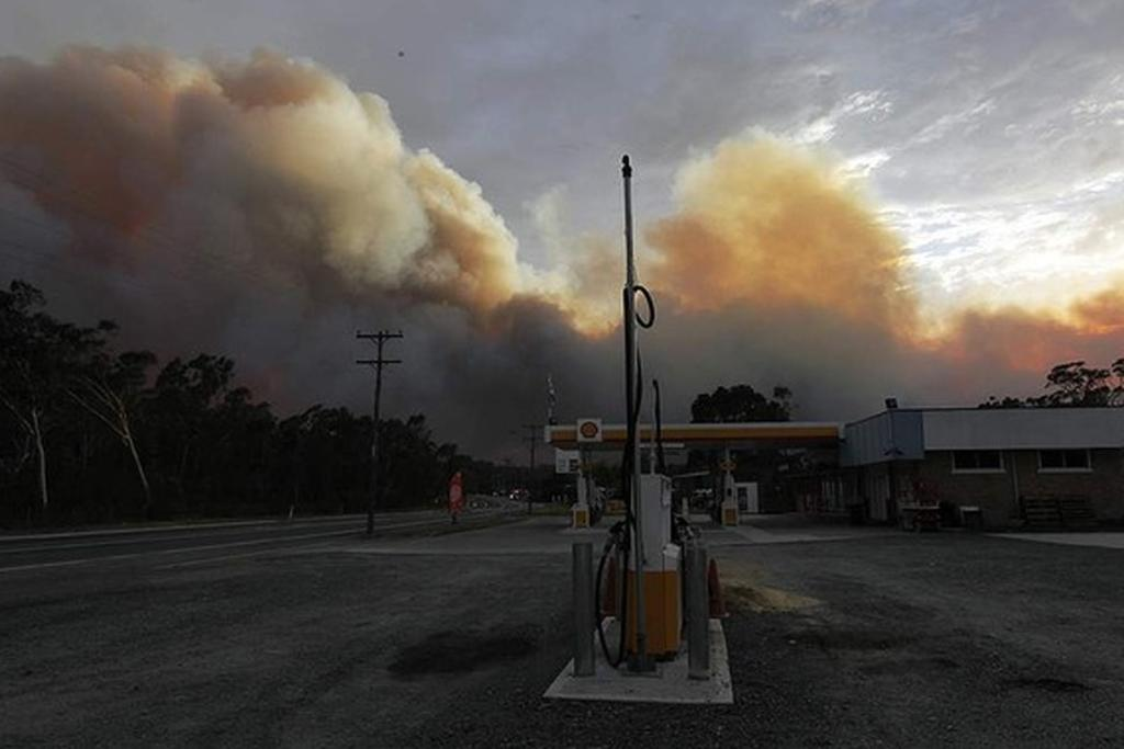 A deserted petrol station, close to a fire south west of Wandandian, NSW.